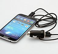 chargeur de voiture USB avec prise UE et des câbles micro USB pour / 4 de htc et autres samsung galaxy
