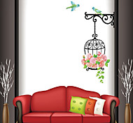 Wall Stickers Wall Decals, Style Birdhouse with Roses PVC Wall Stickers