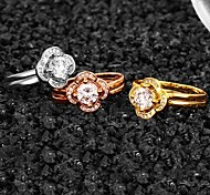 Gold Plated Fashion Flowers Ring (More Colors)
