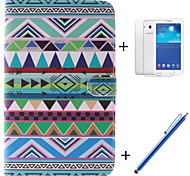National PU Leather Full Body Case with Film and Capacitance Pen for  Samsung Galaxy Tab 3 Lite T110/T114