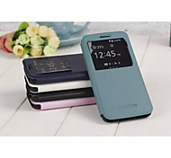 Pure Color PU Leather Officer Fang Chan 1:1 Style for Samsung Galaxy S6 (Assorted Colors)