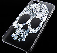 Skull Pattern Transparent Back Case for iPhone5/5s