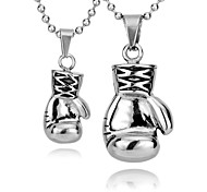 Huge Heavy Boxing Match Boxing glove Pendant Chain Mens Jewelry 316L Stainless Steel