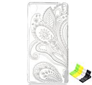 For Sony Case / Xperia Z3 Transparent Case Back Cover Case Flower Soft TPU SonySony Xperia Z3 / Sony Xperia Z2 / Sony Xperia E4 / Sony