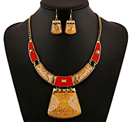Alloy Gold Plated With Cubic Zirconia Fashion Jewelry Sets (Including Necklace,Earrings)More Colors