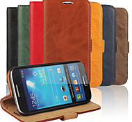 PU Wallet Following from Bark Grain Imports Full Body Cases for Samsung Galaxy S4 Mini I9190(Assorted Color)