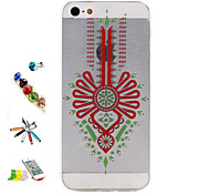 Chinese Knot Pattern with Stylus ,Anti-Dust Plug and Stand TPU Soft Case for iPhone 5/5S