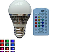 1 pcs SchöneColors® E27 4W 1X High Power LED Dimmable/Music-Controlled/Remote-Controlled RGB LED Globe Bulbs AC85-265V