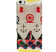 Octopus Anchors Pattern TPU Relief Back Cover Case for iPhone 5