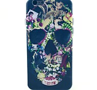 Black Skull Pattern TPU Soft Case for iPhone 5C