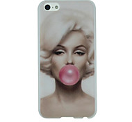 Marilyn Monroe Blows Pink Bubble Pattern Ultrathin PC Hard Back Cover Case for iPhone 5C