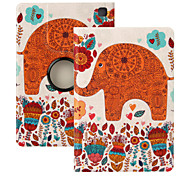 "Elonbo® Orange Elephant 360 Rotating PU Leather Full Body Protector Case Cover For Amazon Kindle Fire HDX 7""2013 Gen."