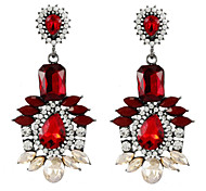 Fashion And Colorful Acrylic Crystal Earrings