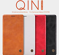 Nillkin  Qin High Quality PU Leather Case Cover Thin Soft Delicate Lining dirt-proof for Samsung Galaxy A7(A700)