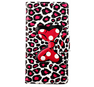 Leopard Print Pattern Bowknot Buckle PU Leather Full Body Case for Samsung Galaxy  A3