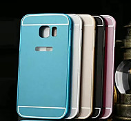Cwxuan™ Ultra Slim 2 in 1 Metal Hard Frame PC Back Cover Mobile Case for Samsung Galaxy S6 Edge(Assorted Colors)
