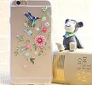 flor de diamante pintura terceira caixa de plástico transparente para iphone 6