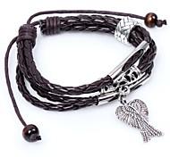 2015 Fashion Snake Leather Rope Bracelet