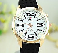 European Style New Fashion Unisex Silicone Big Dial Watches