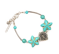 Europe And The America Style Alloy  Of Bohemia Star Turquoise Bracelet