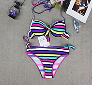Multicolor Stripe New Arrival Sexy Triangle  Two Pieces Swimsuit