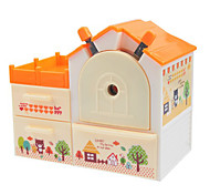 Cute Home House Shaped Pencil Sharpener Student Hand Roll Pencil Cutter (Random Color)