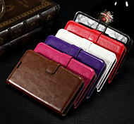 Card Wallet Crazy Horse Pattern PU Leather Full Body Case with Stand Slot for Nokia 640 (Assorted Colors)