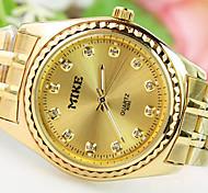 Men's Explosion Circular Diamond Dial Upscale Atmosphere Steel Strap Fashion Quartz Watches (Assorted Colors)