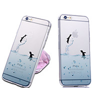 iPhone 7 Plus Cute Animal Transparent Back Case Cover for iPhone 5/5S