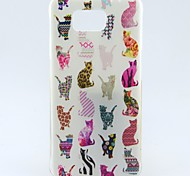 Colorful Cat Pattern TPU Soft Cover for Galaxy Alpha G850