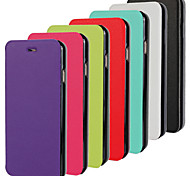 Stylish PU Leather Magnetic Ultra-thin Flip Cover Wallet Card Slot Case Stand Skin Cover for iPhone 6(Assorted Colors)