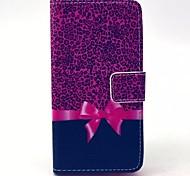 motif de grain de léopard étui en cuir PU avec support pour Samsung Galaxy a3