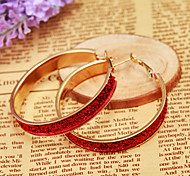 Fashion Pink And Golden Alloy Earings For Women(1 pair)