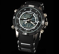 New fashion men's business double movement movement waterproof anti fall large dial watches LCD BWL818