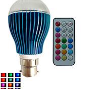 1 pcs SchöneColors® B22 9W 3X3W LED Dimmable/21Keys Remote-Controlled/Decorative RGB Led Globe Bulbs AC85-265V