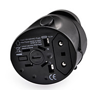 Worldwide Travel Power Adapter Charger w/ UK / EU / US / AU Plug Universal Socket - Black
