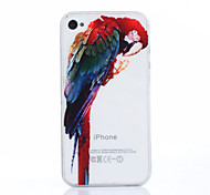 Parrot Pattern TPU Soft Cover for iPhone 4/4S