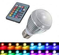 E27 Large screw 9WRGB Balloons Colorful Remote Control Color LED Energy-saving lamps