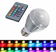 Bombillas LED Inteligentes Control Remoto E26/E27 9W 1 LED de Alta Potencia 180 LM RGB AC 85-265 V 1 pieza