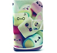Towel Cake Candy Pattern PU Leather Full Body Case with Stand and Card Holder for Samsung Galaxy Young 2 G130