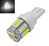 JIAWEN® T10 3W 10X7020SMD 210LM 6000-6500K Cool White LED Car Light (DC 12V)