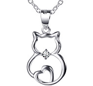 I FREE®Women's New Fashion S925 Sterling Silver Necklace 1 pc with 18 inch Sterling Silver Chain