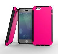 bonne qualité de conception spéciale pc silicone cas incassable couverture arrière pour iPhone 6 (couleurs assorties)