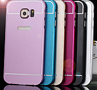 GYM Metal Bumper Metal Back Case for Samsung Galaxy S6 Edge G9250(Assorted Colors)