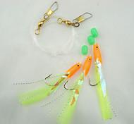 20packs* 3/0# Hook Saltwater/Freshwater Fishing Sabiki Feather Sea Rigs Fishing Lure Baits