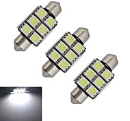 Festoon Luces Decorativas 6 SMD 5050 100-150lm lm Blanco Fresco DC 12 V 3 piezas