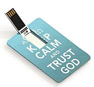 4gb mantener la tarjeta de diseño unidad flash USB dios calma y confianza
