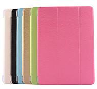 solides transparentes diamants de couleur lignes tiennent pu étui en cuir couverture pour iPad 2 l'air (de couleur assortie)