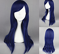 60cm Clannad-Ichinose Kotomi Dark Blue Straight Anime Cosplay Wig