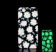 Modelo de flores que brillan en el caso duro para el iphone 5 oscuro / iphone 5 s